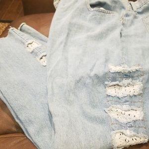 Ash. White jeans